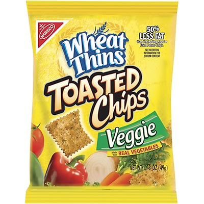 Wheat Thins®; Veggie Flavored Toasted Chips, 1.75-oz., 60/Case