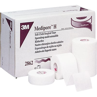 3M™ Medipore™ H Soft Cloth Surgical Tape, 3 X 10 yds, 12/Case