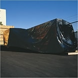 24x100 Black 6 Mils Thick Poly Sheeting
