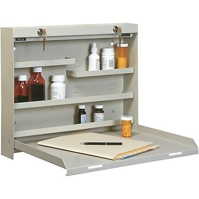 Drug -Stor® Narcotics Cabinet; Beige/Wood Laminate