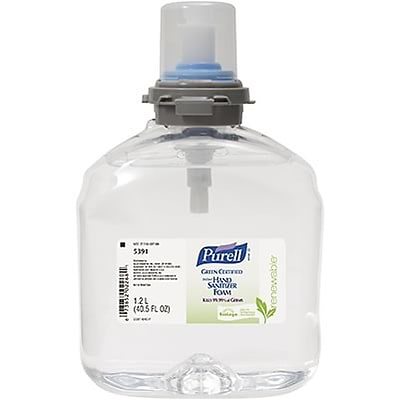 Purell® TFX™ Green Certified Instant Hand Sanitizer; Foam, Refill, 1,200 ml., 2/Case