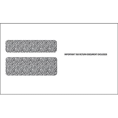 TOPS Double Window Envelope for Continuous W-2 Tax Forms, 24 lb., White, 5 5/8 x 9, 100/Pack (7990EQ)