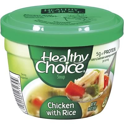 Healthy Choice® Soup; Chicken with Rice, 14-oz., 12/Case