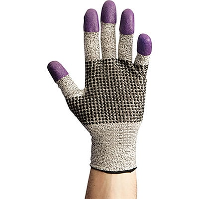 Jackson Safety® Gloves; G60 Purple Nitrile Cut Resistant, Medium, Size 8