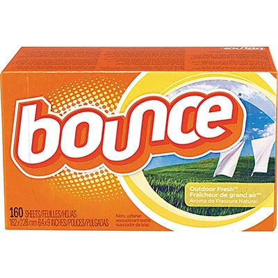 Bounce® Fabric Softener Sheets; Outdoor Fresh Scent, 160 Sheets/Box (PAG 80168)