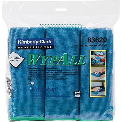 Kimberly-Clark® Wypall® Microfiber Cloth with Microban; Unscented, 6/Pack