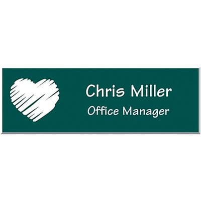 Engraved Identification Badges; 1x3, Pine with White Letters