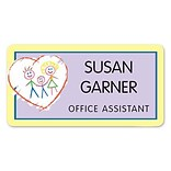 Custom Printed Medical Arts Press® Full-Color Generic Name Badges; Standard, Heart