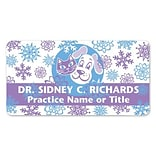 Medical Arts Press® Full-Color Seasonal Name Badges; Standard, Snowflake Pets
