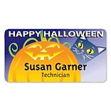Medical Arts Press® Full-Color Seasonal Name Badges; Standard, Jack-O-Cat