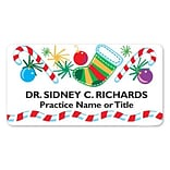 Medical Arts Press® Full-Color Seasonal Name Badges; Standard, Candy Cane