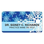 Medical Arts Press® Full-Color Seasonal Name Badges; Standard, Snow Flakes