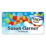 Medical Arts Press® Full-Color Seasonal Name Badges; Standard, Snowman Glasses