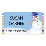 Medical Arts Press® Full-Color Seasonal Name Badges; Standard, Snowman Eye