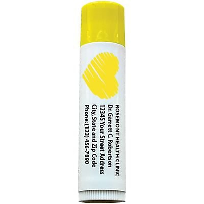 Custom Printed SPF 15 Lip Balm; Lemonade