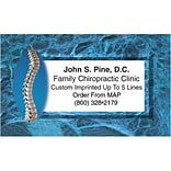 Medical Arts Press® Generic Business Card Magnets; Spine with Marble Border