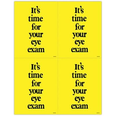 Medical Arts Press® Eye Care Laser Postcards; Blurry, Its Time For Exam