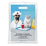 Medical Arts Press® Veterinary Personalized Full-Color Bags; 12X16, Dr. Cat/Nurse Dog