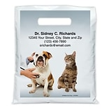 Medical Arts Press® Veterinary Personalized Full-Color Bags; 7-1/2x9, Dog Cat Stethoscope