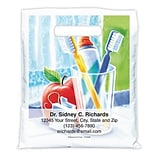 Medical Arts Press® Dental Personalized Full Color Bags; 7-1/2x9, Brush Toothpaste Apple