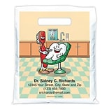 Medical Arts Press® Dental Personalized Full Color Bags; 7-1/2x9, Friendly