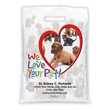 Medical Arts Press® Veterinary Personalized Full-Color Bags; 12X16, Heart/Dogs/Cats