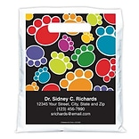 Medical Arts Press® Veterinary Personalized Full-Color Bags; 7-1/2x9, Pawprint
