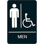 ADA Braille Restroom Sign; Men, Handicapped