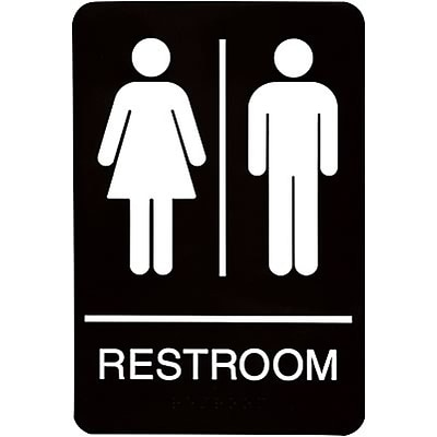 ADA Braille Restroom Sign; Men/Women
