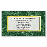 Medical Arts Press® Generic Business Card Magnets; Green Marble