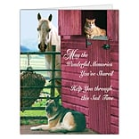 Medical Arts Press® Veterinary Sympathy Cards; Farm Animals, Personalized
