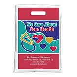 Medical Arts Press® Medical Personalized Full Color Bags; 9x13, We Care About Your Health