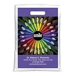 Medical Arts Press® Dental Personalized Full Color Bags; 9x13, 4-Colored Toothbrushes