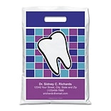 Medical Arts Press® Dental Personalized Full-Color Bags; 9x13, Large Tooth
