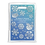 Medical Arts Press® Seasonal Personalized Full-Color Bags; 9x13, Pet Snowflakes