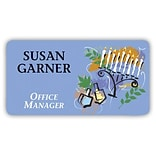 Medical Arts Press® Full-Color Seasonal Name Badges; Hanukkah