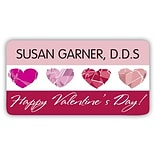 Medical Arts Press® Full-Color Seasonal Name Badges; Valentines