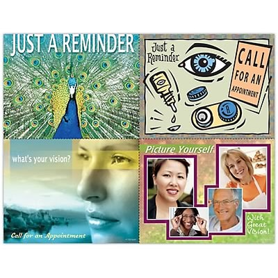 Eye Care Assorted Laser Postcards, Peacock