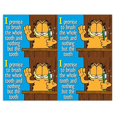 Garfield Dental Laser Postcards;  Promise to Brush