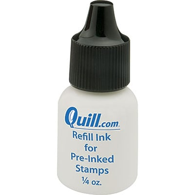 Refill Ink for Quill Brand® Pre-Inked Stamps; Black