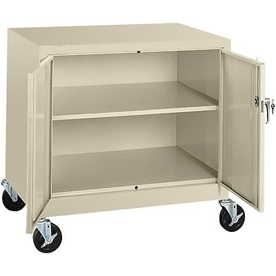 Sandusky® Steel Mobile Storage Cabinet; Assembled, 36Hx36Wx24D, Putty