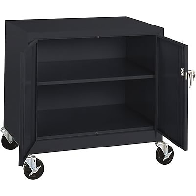 Sandusky® Steel Mobile Storage Cabinet; Assembled, 36Hx36Wx24D, Black
