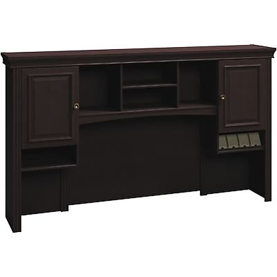 Bush® Syndicate in Mocha Cherry; 72 W Tall Hutch, Ready-to-Assemble