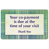 Medical Arts Press® Generic Full-Color Message Signs; Green Plaid