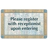 Medical Arts Press® Generic Full-Color Message Signs; Peach Marble