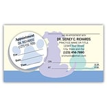 Medical Arts Press® Dual-Imprint Peel-Off Sticker Appointment Cards; Blue Bottom