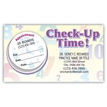 Medical Arts Press® Dual-Imprint Peel-Off Sticker Appointment Cards; Clock Sticker