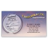 Medical Arts Press® Dual-Imprint Peel-Off Sticker Appointment Cards; Spine/Purple