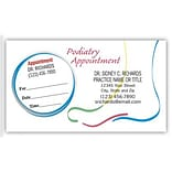 Medical Arts Press® Dual-Imprint Peel-Off Sticker Appointment Cards; Large Foot