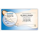 Medical Arts Press® Dual-Imprint Peel-Off Sticker Appointment Cards; Foot, Blue Shades